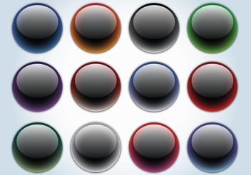 Glass Buttons - vector #140467 gratis