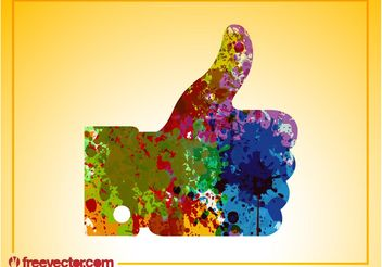 Colorful Like Hand - vector gratuit #140647