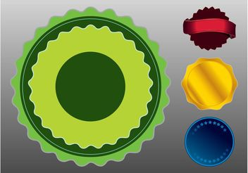 Stickers Badges - vector #140667 gratis