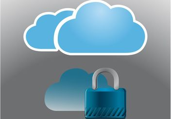 Cloud Icons - vector gratuit #140677