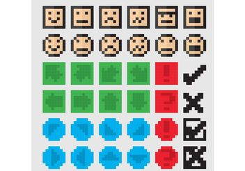 8 Bit Vector Icons - Free vector #140777