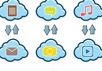 Upload Download Cloud Vectors - Free vector #140887