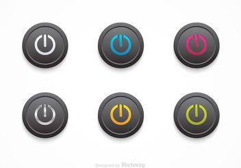 Free Vector Black On Off Buttons - Free vector #141027