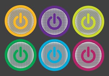 On Off Button Vector Pack - vector #141057 gratis