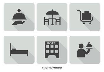 Hotel Service Icon Set - бесплатный vector #141137