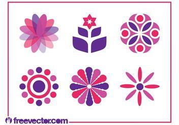 Floral Icon Set - Kostenloses vector #141177