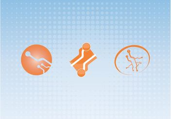 Orange Technology Icons - Free vector #141247