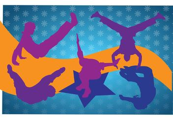 Breakdancing Silhouettes - Free vector #141357