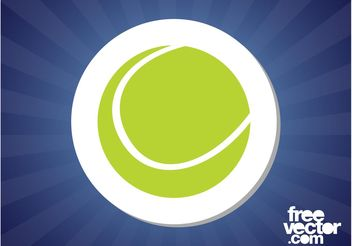 Tennis Ball Sticker - Free vector #141387