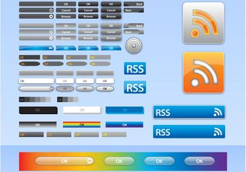 Vector Web Buttons - vector #141597 gratis
