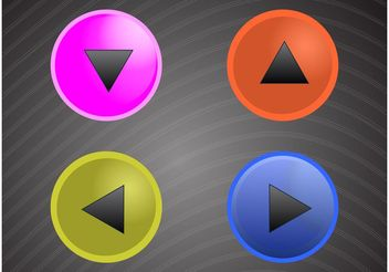 Round Button Pack - vector gratuit #141637