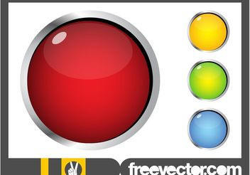 Shiny Round Buttons - Free vector #141707