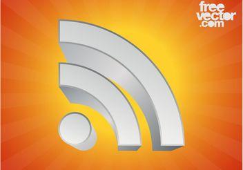 3D RSS Symbol Graphics - Kostenloses vector #141817