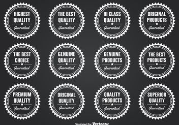 Quality Seals / Badges - Free vector #141867