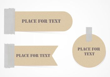 Free Cardboard Labels Attached With Duct Tape Vector - vector gratuit #141917