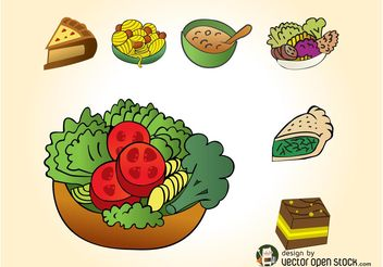 Meals Icons - vector #142057 gratis