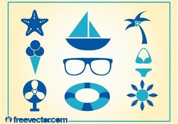 Summer Icons Vector - vector gratuit #142127