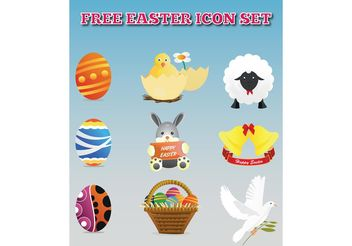 Icon Vector Easter Pack - vector gratuit #142157