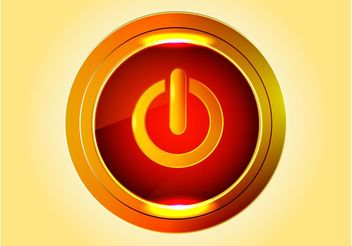 Golden Power Button - vector gratuit #142187