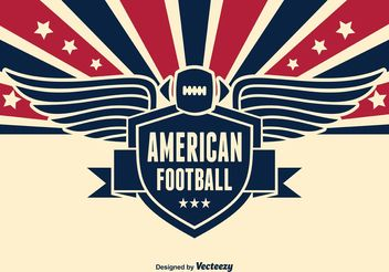 American Football Vector Illustration - Free vector #142197