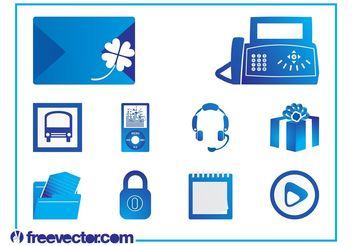 Icons Set Vector Graphics - Free vector #142237