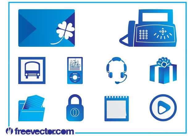 Icons Set Vector Graphics - Kostenloses vector #142237