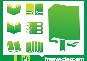 Books Icons Graphics - Free vector #142247