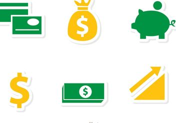 Finance Icons Vectors Pack 1 - Free vector #142257