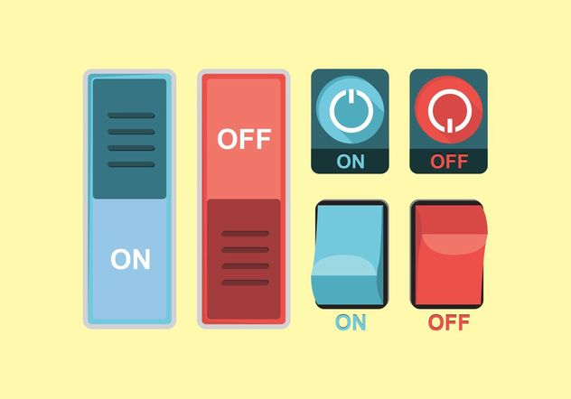 On Off Button Vector Free - Free vector #142267