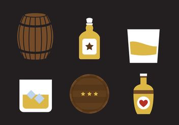 Whiskey Vector Icons - vector #142287 gratis