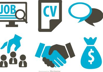 Job Business Concept Icons Vector - Free vector #142297