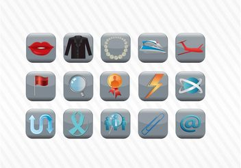 Vector Icon Button Collection - Kostenloses vector #142317