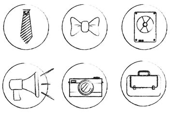 Sketchy Vector Icons - бесплатный vector #142347