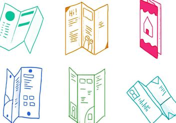 Trifold Brochure Icon Set - vector #142357 gratis