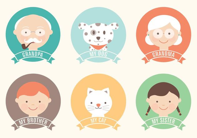Free Flat Family Vector Icon Set - бесплатный vector #142367