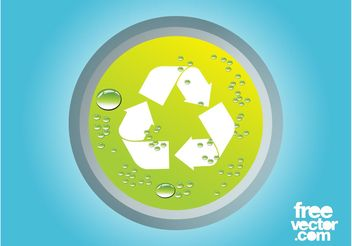 Recycling Icon - vector gratuit #142437