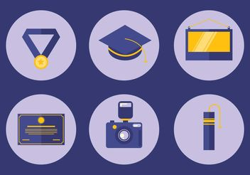 Graduation Icon Vector Set - Free vector #142477