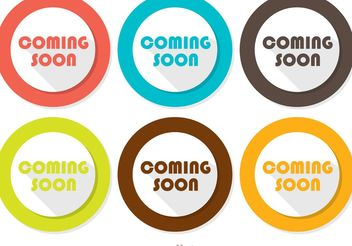 Coming Soon Flat Icons Vector Pack - vector #142577 gratis
