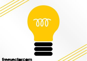 Lightbulb Symbol - бесплатный vector #142687