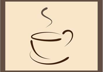 Coffee Cup Logo Template - vector gratuit #142697