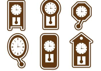 Wall Clock Icons Vector Pack - бесплатный vector #142717