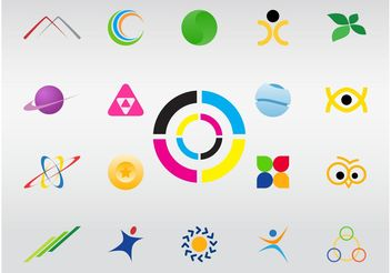 Logo Shapes - Free vector #142747