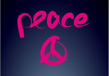 Peace Logo - Free vector #142767