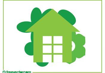 Eco House Logo - vector gratuit #142787