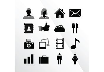 16 iOS Tab Bar Vector Icons by IconBeast.com - Free vector #142837