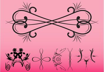 Swirling Vintage Ornaments - бесплатный vector #142917
