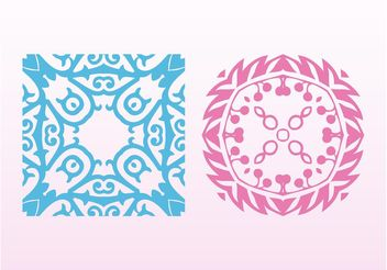Vintage Decorative Ornaments - Free vector #142997