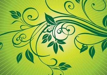 Fresh Nature Ornaments Vector - vector gratuit #143007