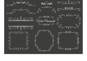 Decorative Vector Ornaments - Free vector #143017