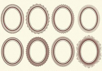 Oval Vector Frames - Free vector #143047